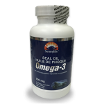 100% Harp Seal Oil Omega-3 - 100 Capsules - Single Bottle
