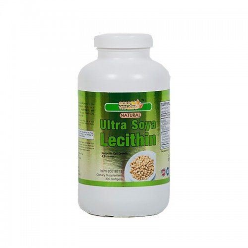 Ultra Soy Lecithin 1200mg - 300 Capsules - Single Bottle