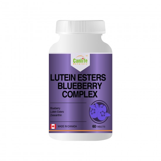 Canlife Naturals Lutein Esters Blueberry Complex - 60 Tablets - Single Bottle