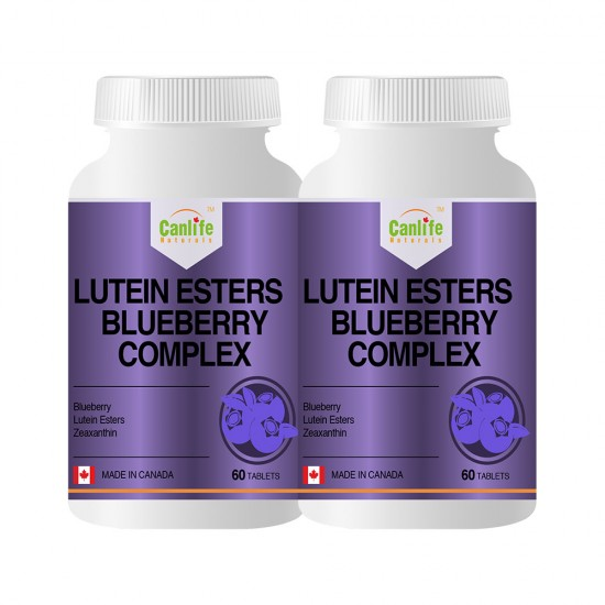 Canlife Naturals Lutein Esters Blueberry Complex - 60 Tablets - Two Bottles